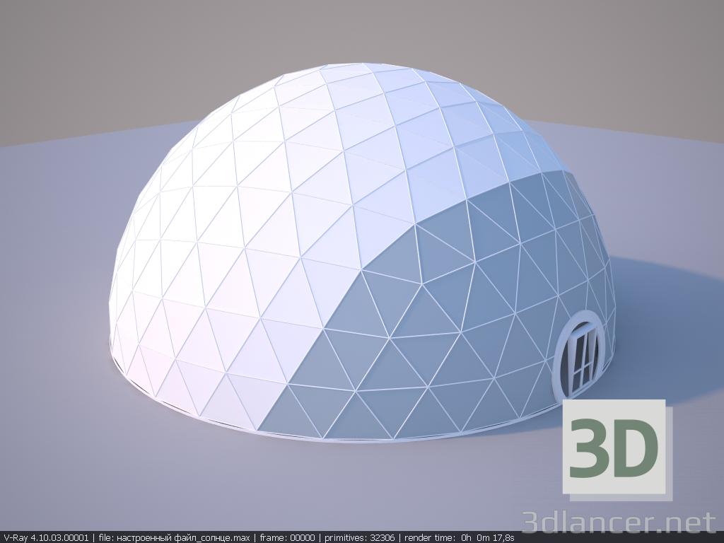 3d model Geokupol 20x20 - preview