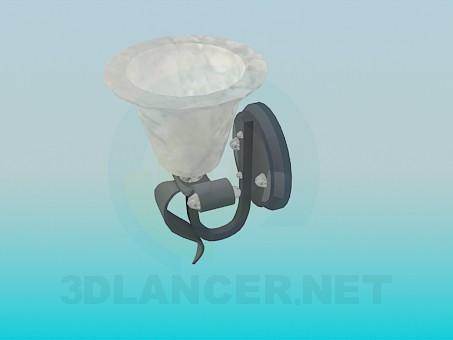 3d модель Бра с плафоном с мраморной раскраской – превью