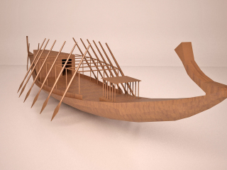 Ancient Egyptian Khufu solar ship