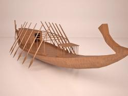 Navire solaire Khufu égyptien antique