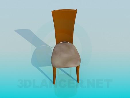 3d модель Узкий стул – превью
