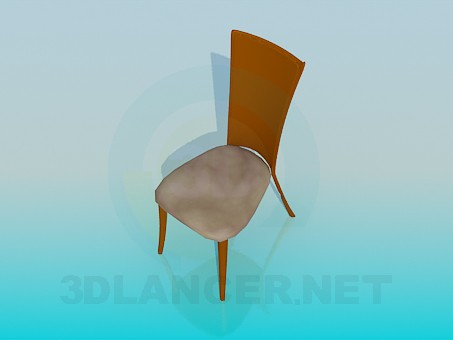 3d model Narrow stool - preview