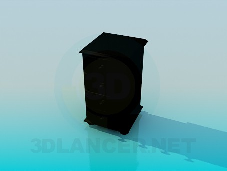 3d model Bedside table on castors - preview