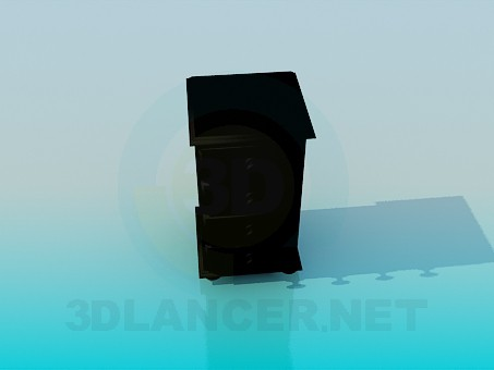 3d модель Тумбочка на коліщатках – превью