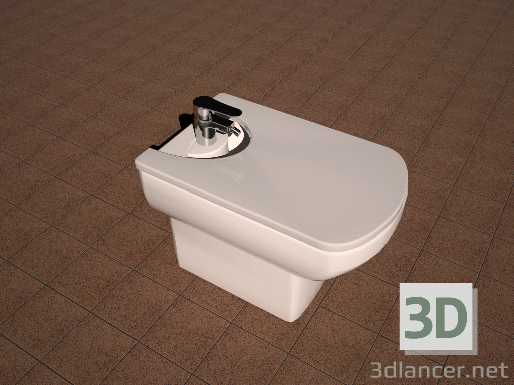3d Model Bidet Roca Dama Senso Available For Download In Formats C4d