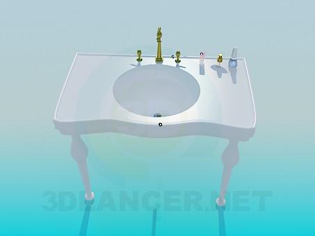 3D Modell Tisch für den Wasserspender - Vorschau