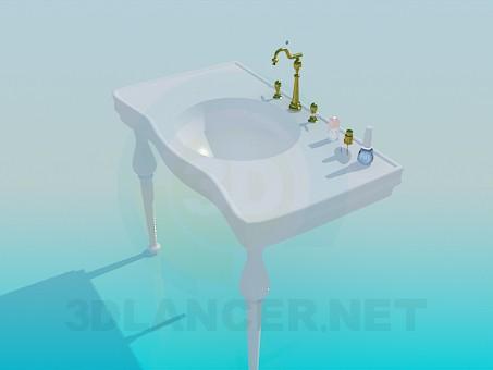 modelo 3D Mesa para el dispensador de agua - escuchar