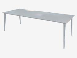Table à manger (frêne laqué blanc 100x240)
