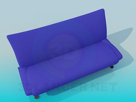 descarga gratuita de 3D modelado modelo Sofá sin brazo