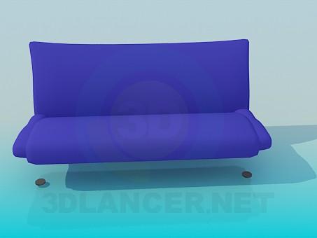 3d модель Диванчик без подлокотников – превью
