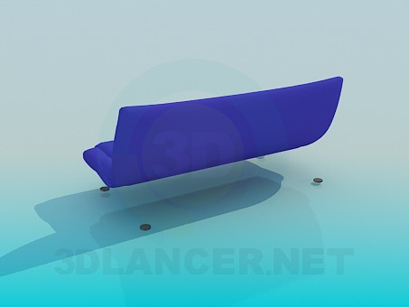 3d model Sofa without armrest - preview