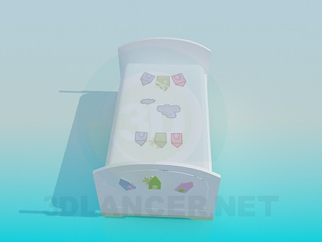3d model Toddler bed - preview