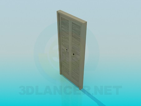 3d model The door to the dressing room - preview
