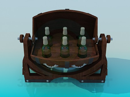 3d modeling Cask Beer model free download