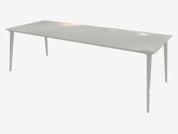 Table à manger (frêne teinté blanc 100x240)