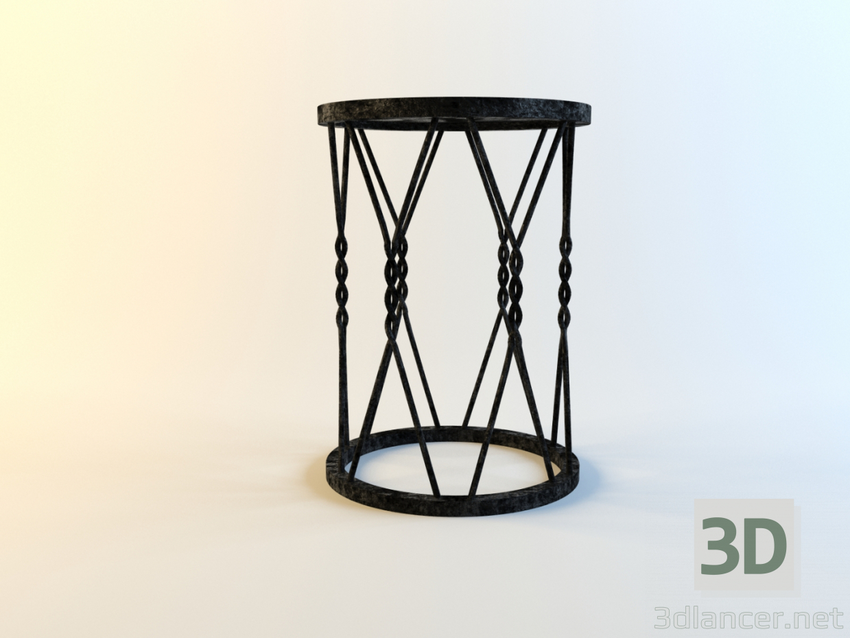 3d model Steel coffee Table - preview