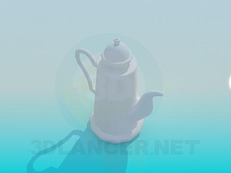 3d модель Чайник для заварки чая – превью