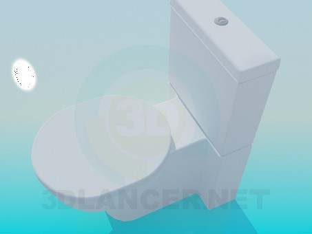3d model Toilet in modern design - preview