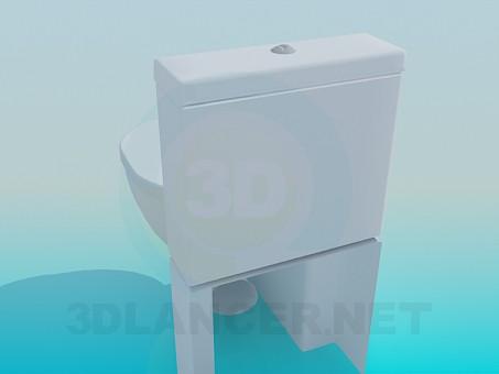 3d модель Унітаз в сучасному дизайні – превью