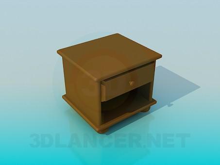 3d modeling Low bedside table model free download