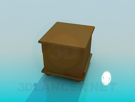 3d model Low bedside table - preview