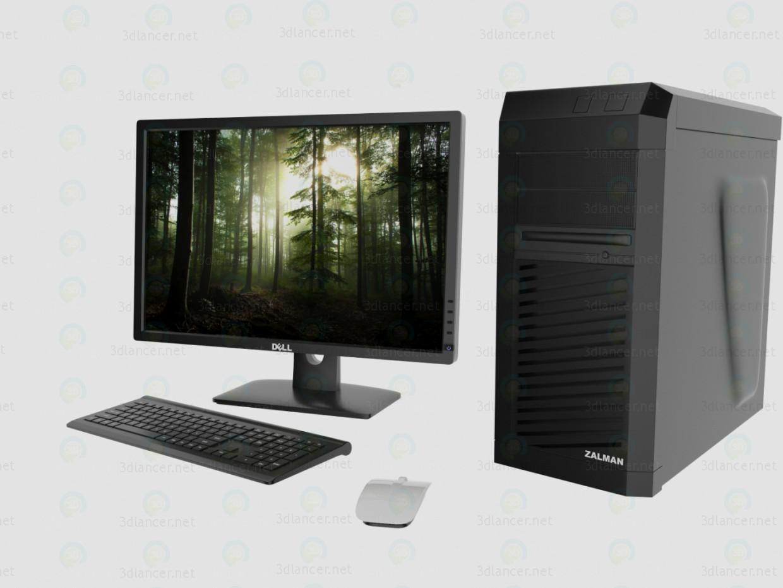 3d Desktop PC model buy - render