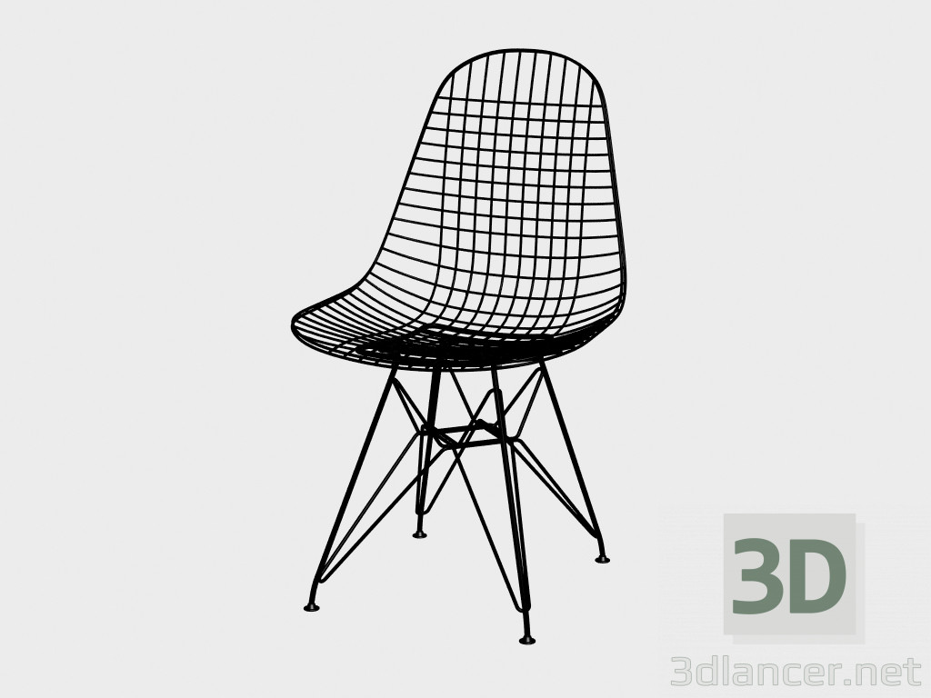 3d model Chair Wire Chair DKR manufacturer Vitra ID 18065
