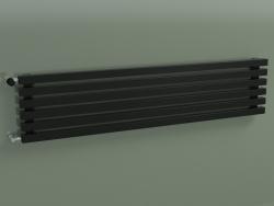 Horizontal radiator RETTA (6 sections 1500 mm 40x40, glossy black)