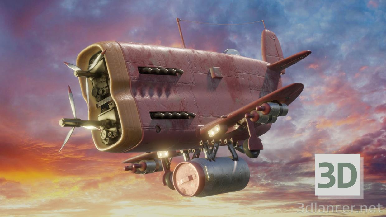 3d Aircraft model buy - render
