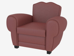 Armchair leather in classic style Flavio