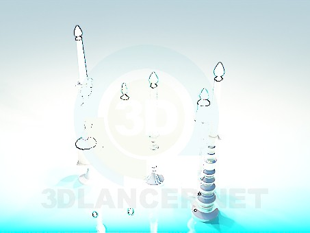 3d model Candles - preview