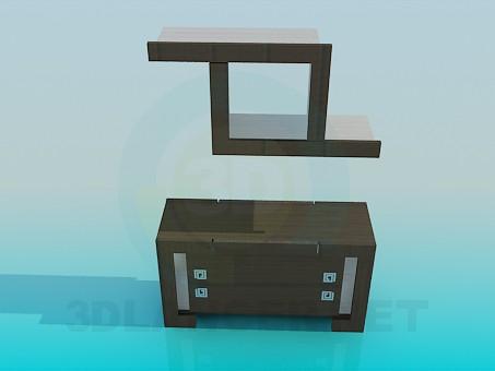 modelo 3D Armario para TV y una estantería - escuchar