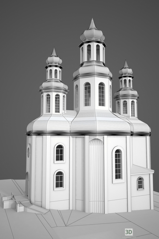 3d The Orthodox Church model buy - render