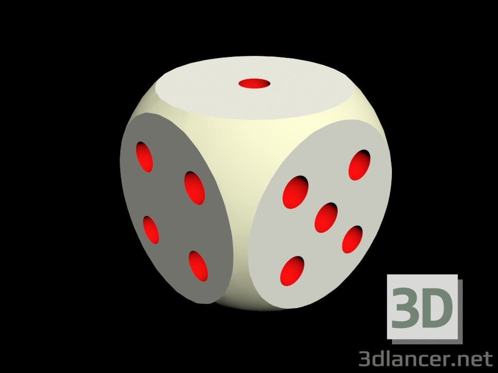 3d model Playing bone - preview