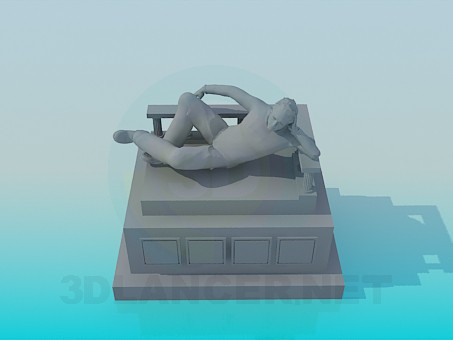 3d model Monument - preview