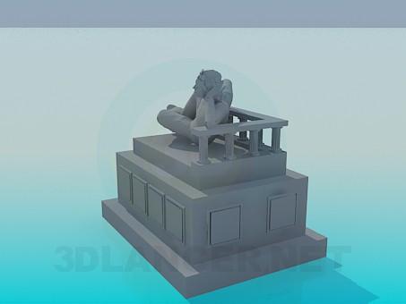 modelo 3D Monumento - escuchar
