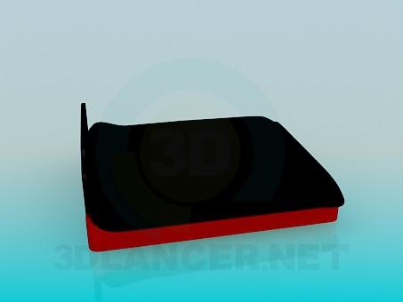 3d модель Кровать с мягким изголовьем – превью