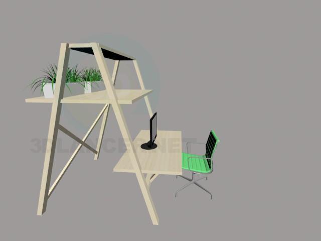 3d modeling ladder desk model free download