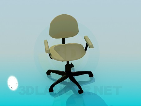3d model Office chair on wheels - preview