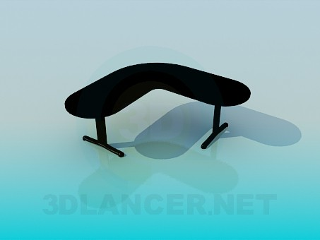 modelo 3D Mesa de la esquina - escuchar