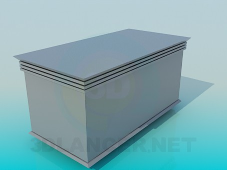 3d model Table-cabinet - preview