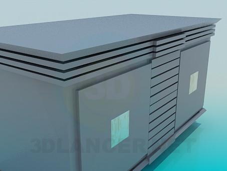 modelo 3D Gabinete de mesa - escuchar