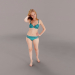 3d model casual woman - preview