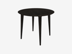 Table de repas ronde (frêne teinté gris D90)