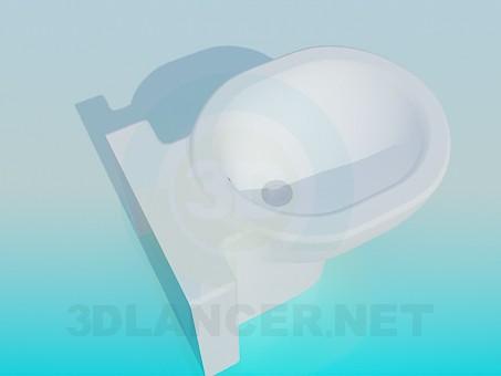 3d model Massive bidet - preview