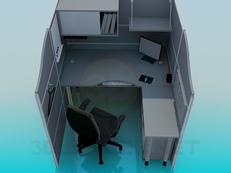 3d modeling The furniture in the office model free download