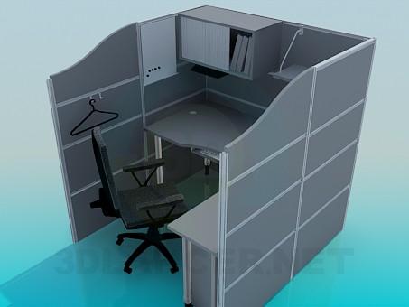 modelo 3D Los muebles de la oficina - escuchar