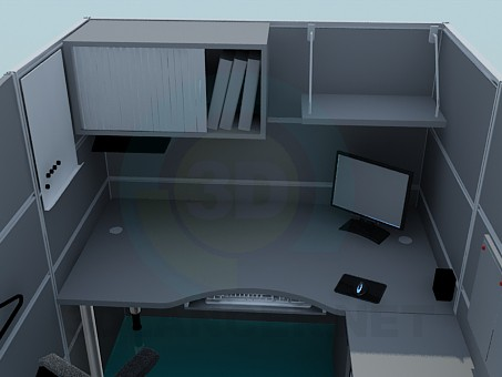 3d model The furniture in the office - preview