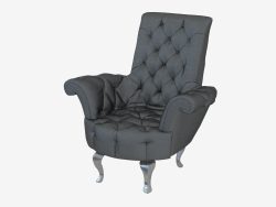 Armchair leather in art-deco style B141