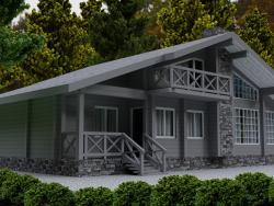 Holzhaus aus Holz